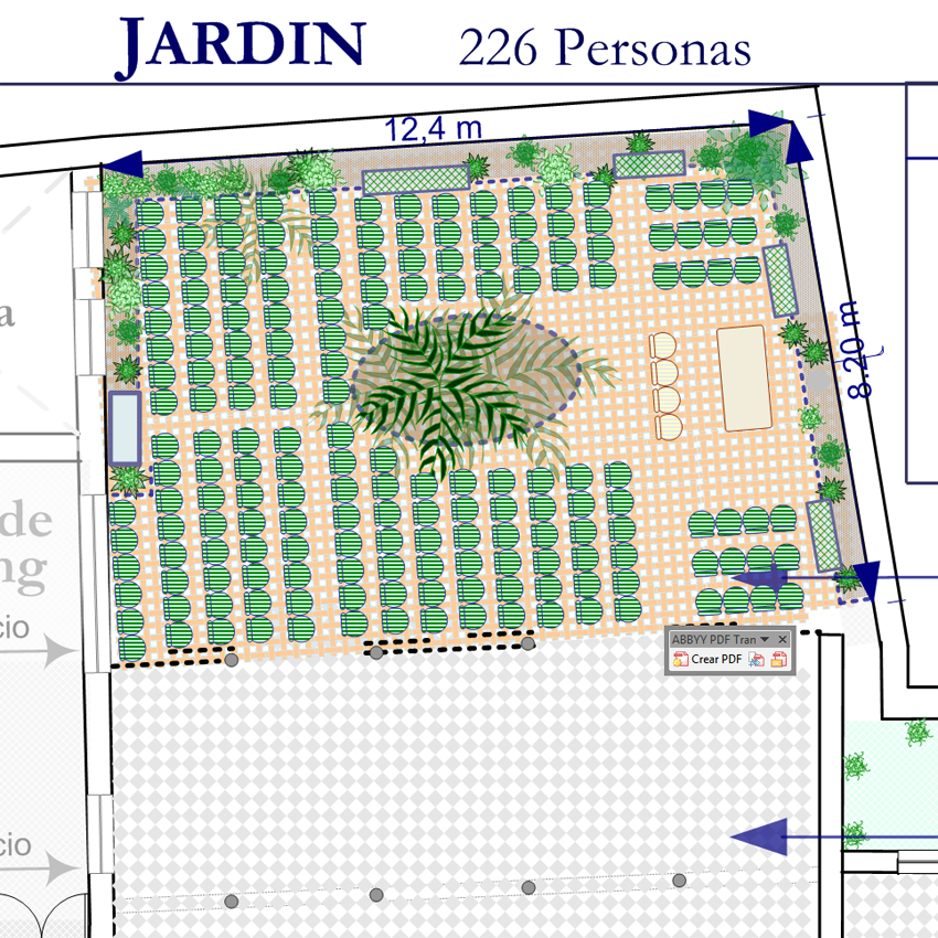 Planos de ceremonias casa de guardiola for Planos de jardines
